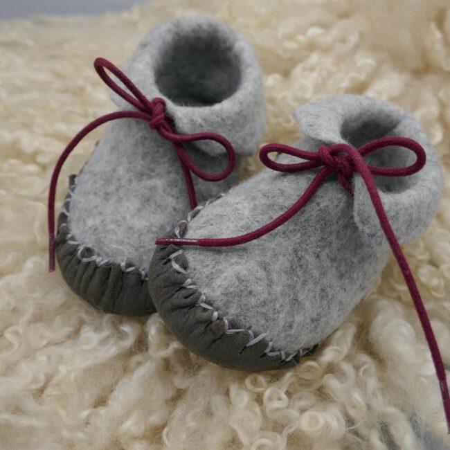Babyschuhe grau