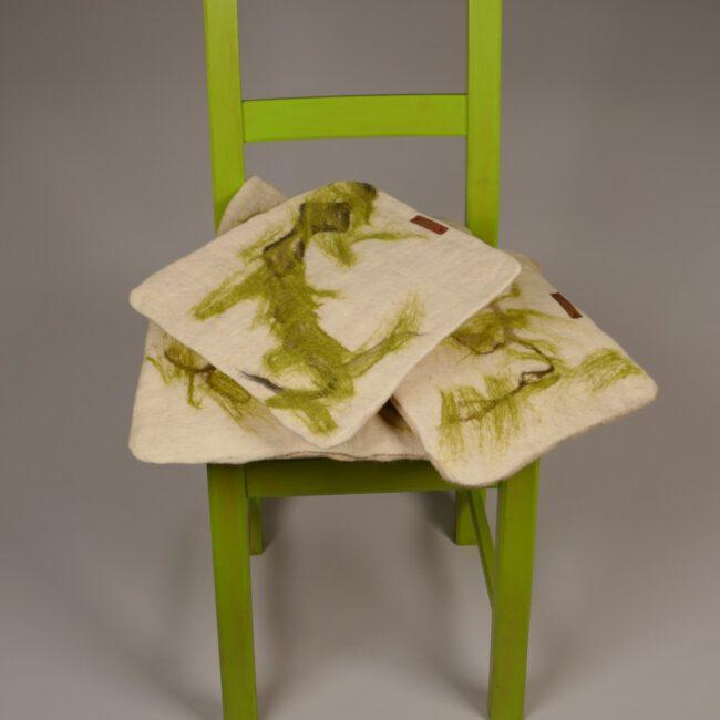Sitzauflage Marmor grün